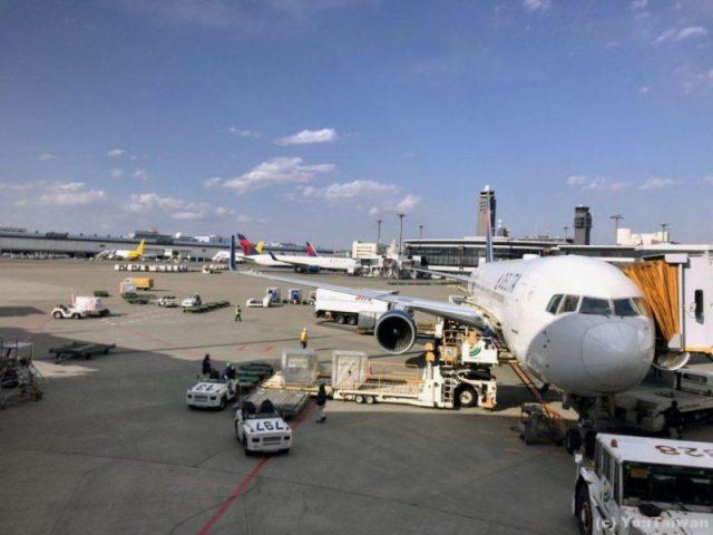 デルタ航空成田ー台北 B767