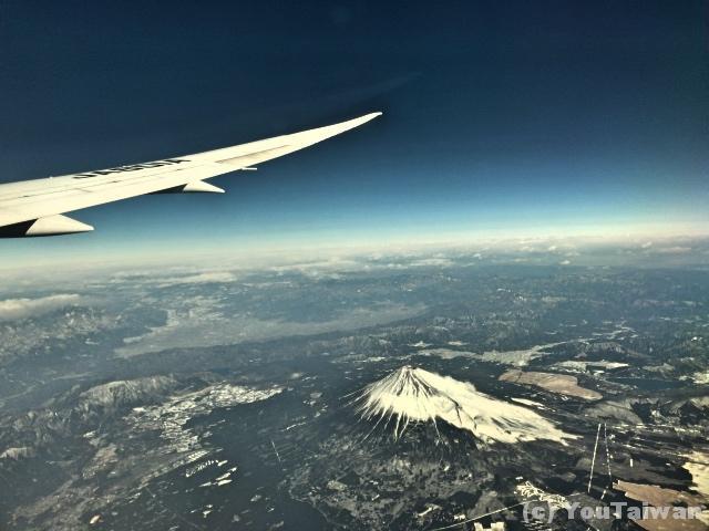雪をかぶった富士山がバッチリ見えました